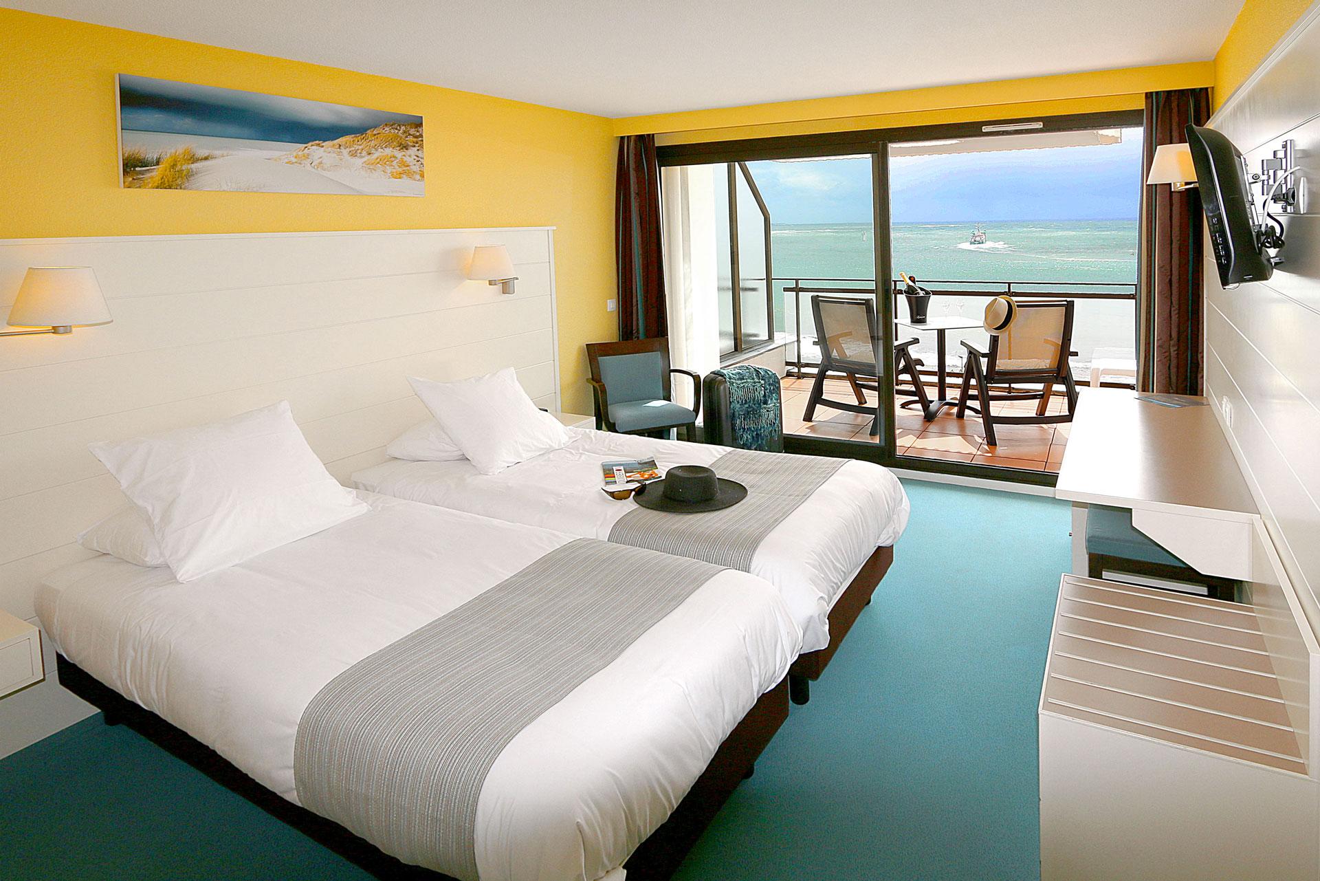 chambre double mer quiberon