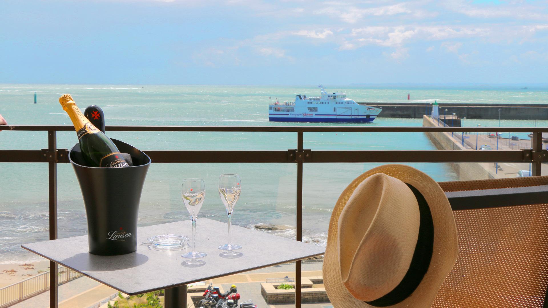 chambre hotel vue mer quiberon